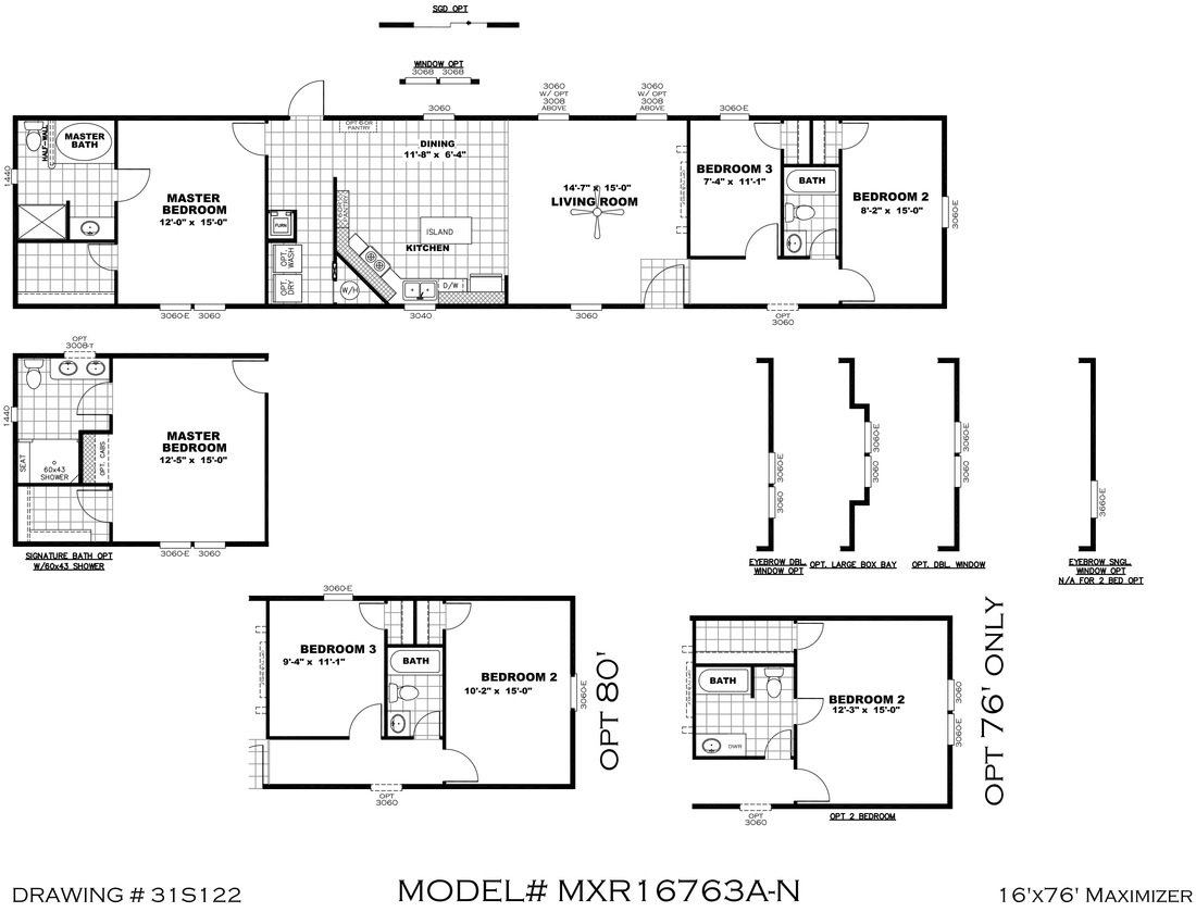 The MAXIMIZER 16763A Floor Plan