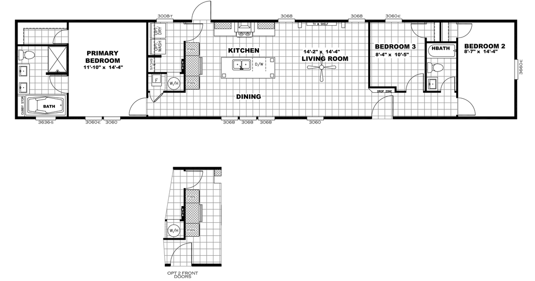 The RESOLUTION 16763X Floor Plan
