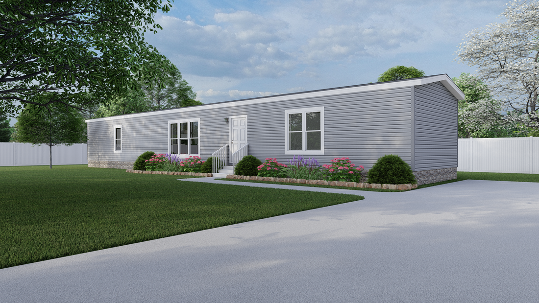 The RESOLUTION 16763X Exterior. This Manufactured Mobile Home features 3 bedrooms and 2 baths.