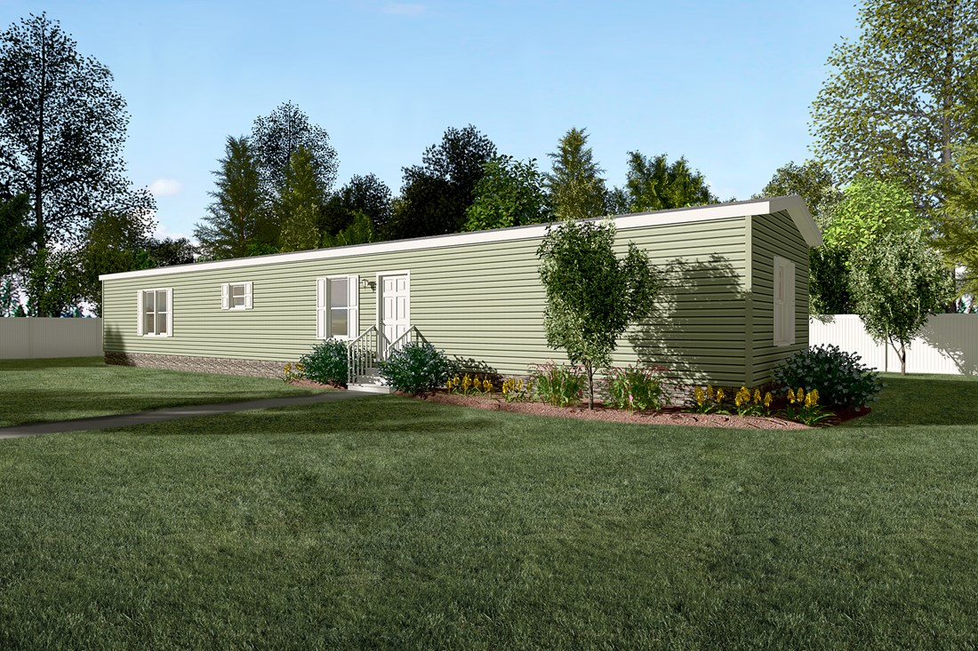 The SMART BUY 16763S Exterior. This Manufactured Mobile Home features 3 bedrooms and 2 baths.