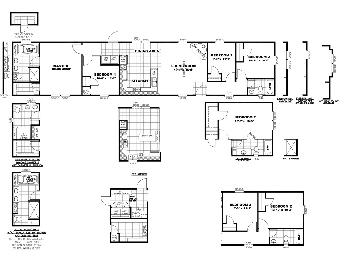 The SMART BUY 16764F Floor Plan