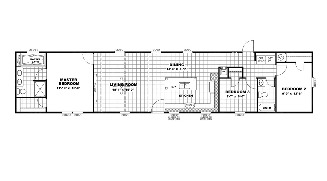 The RESOLUTION 16763B Floor Plan