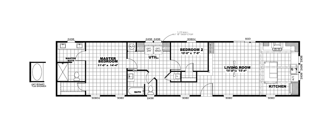 The INSPIRATION 16662A Floor Plan
