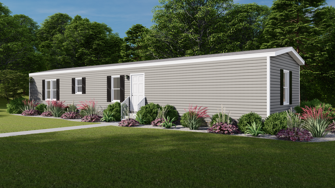The INDEPENDENT 16663C Exterior. This Manufactured Mobile Home features 3 bedrooms and 2 baths.
