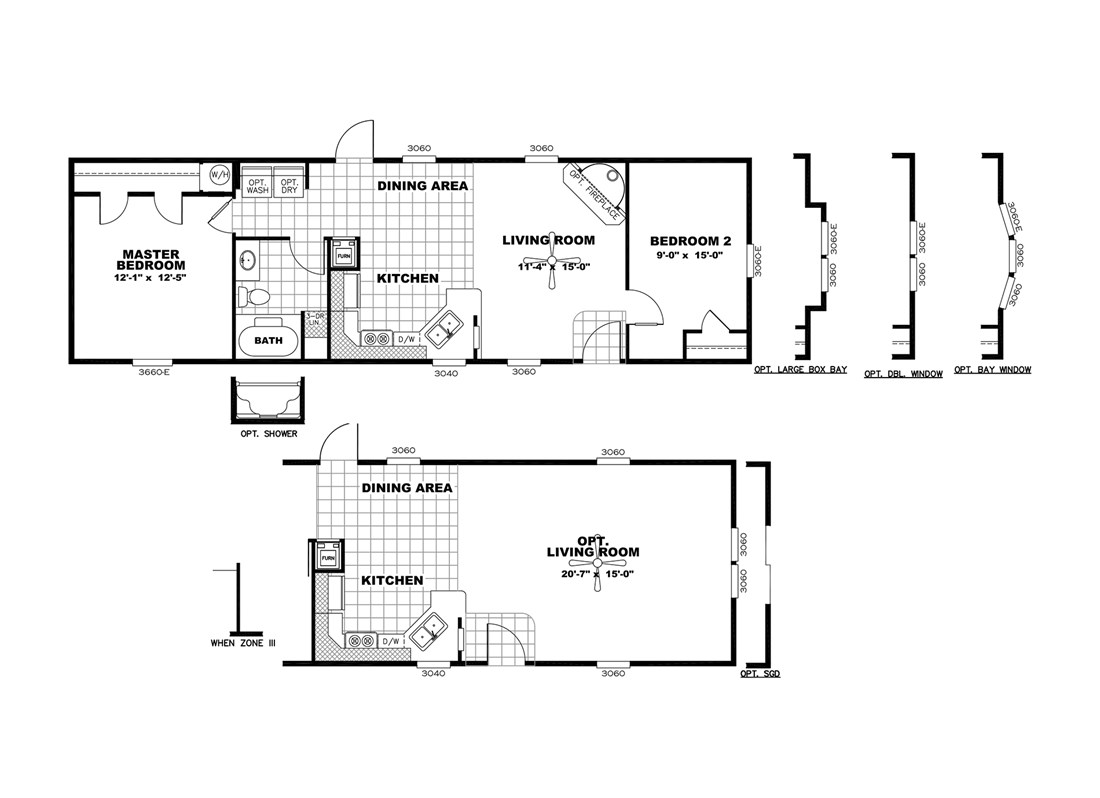 The SMART BUY 16522A Floor Plan