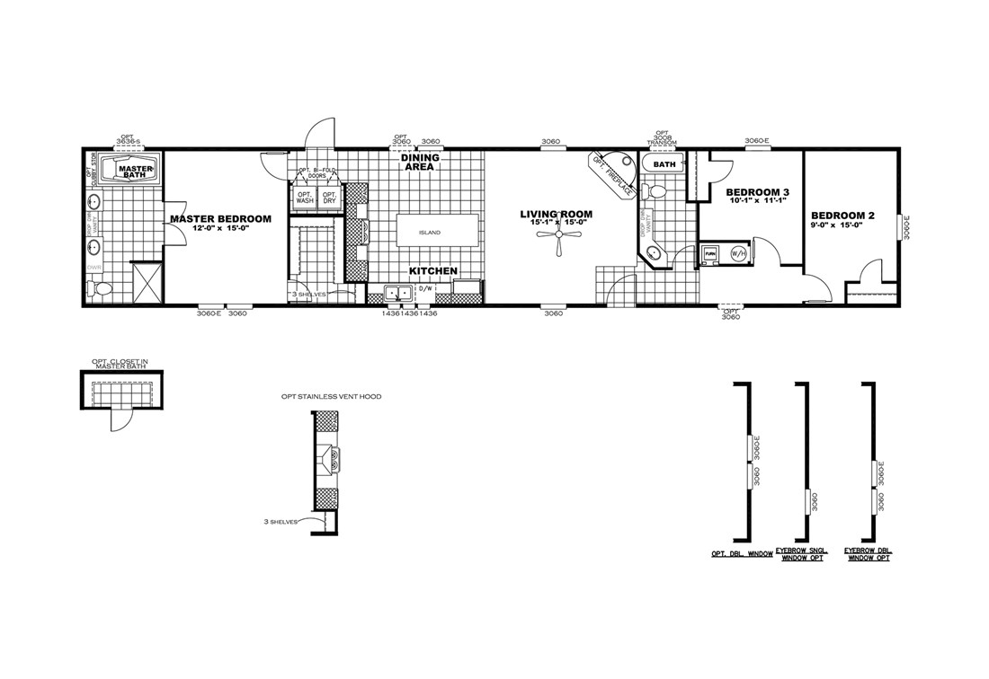 The SMART BUY 16803C Floor Plan
